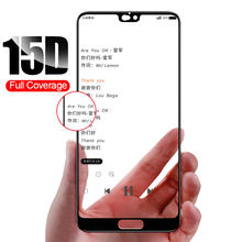 15D Full Cover Tempered Glass For Huawei P30 P20 P10 Lite Screen Protector Film For Honor 9 lite 10 Huawei P30 P20 Pro Glass(China)