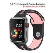 Caso Protetor TPU macio para Apple Série Relógio 4 Clear All-round Capa Bumper Quadro para Apple Relógio 40mm 44mm Acessórios
