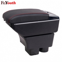 For Skoda Rapid 2013 2018 Armrest Box Usb Charging Heighten Double Layer Central Store Content Cup Holder Ashtray Accessories