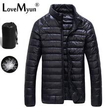 2017 Autumn Winter Duck Down Jacket Ultra light Men 90% Coat Waterproof Down Parkas Fashion mens Outerwear coat 5011