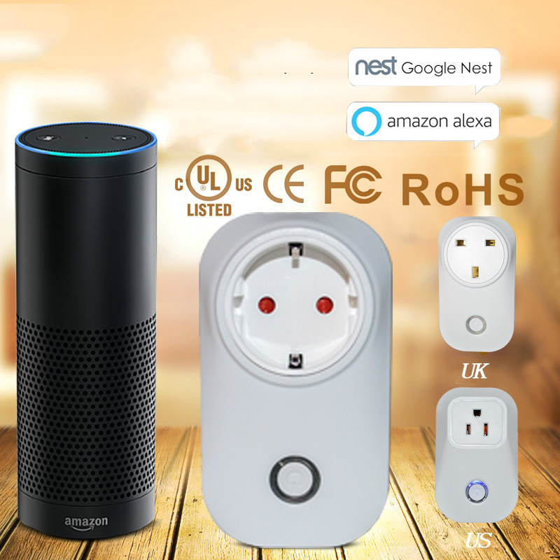 works with Amazon echo Alexa EU Wifi Plug Power Wireless Home Appliance Automation App Remote Control Timer Switch Wall