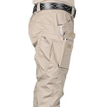 Nowe męskie spodnie taktyczne z wieloma kieszeniami elastyczność wojskowa miejskie podmiejskich Tacitcal spodnie męskie Slim Fat spodnie Cargo 5XL tanie tanio Acacia Person Cargo pants COTTON Poliester Midweight AJIX79 2 49 - 3 48 Pełnej długości Mężczyźni Wojskowy REGULAR