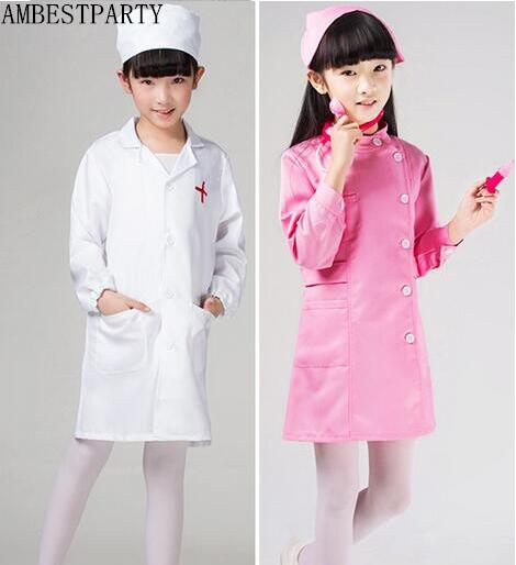 2017 kids doctor halloween costume girl nurse dress party performance dance costume medical clothes student clothing - Kids Doctor Halloween Costume
