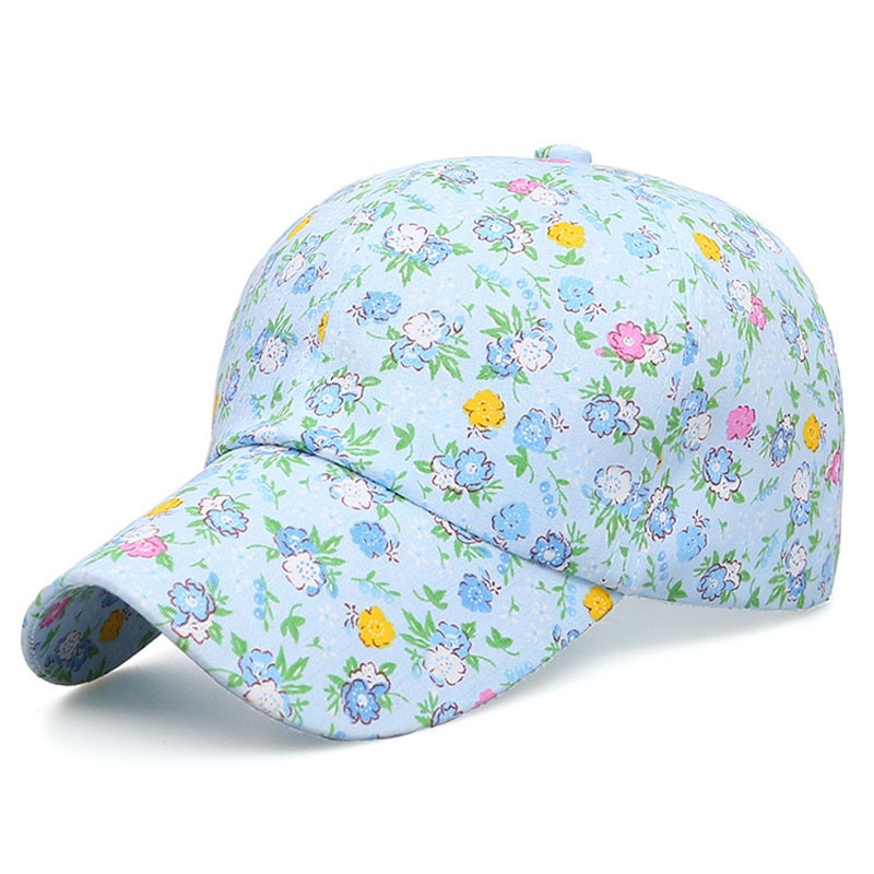 Women Summer Fashion Adjustable Cotton Floral Printed   Baseball     Caps   Snapback Hip-Hop Sun Hat Sunbonnet 2019 Trendy