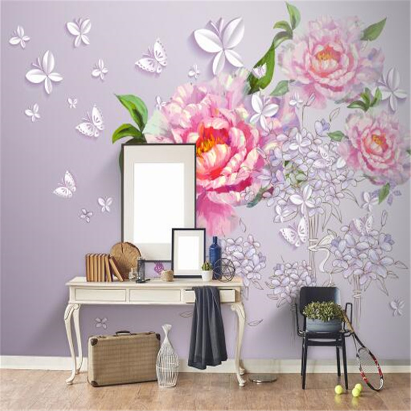 European Style Wall Paper for Walls 3D HD Non-Woven Wallpapers Peony Wallpapers for Living Room Luxury Sticker Wallpaper geography of south africa mural wallpaper 3d in european style living room tv wall background 3d wallpapers for walls