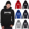 Thrasher Hoodie Men Harajuku Brand Clothing Flame Trasher Sweatshirt Women Winter Warm Fleece Tracksut Hoodie Sweatshirts new