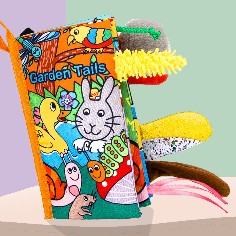 Infant Baby Quite Book Early Development Cloth Books For Kids Learning Education Activity Baby Toys Books Animal Tails Dinosaur