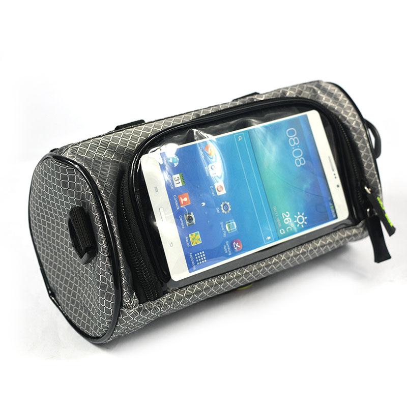 Wodoodporny Ekran Dotykowy Sakwy Rowerowe Rower Górski Rower Torby Phone Bag Case Rower Szosowy Rura Przednia Kierownica Torba Cylindra 36