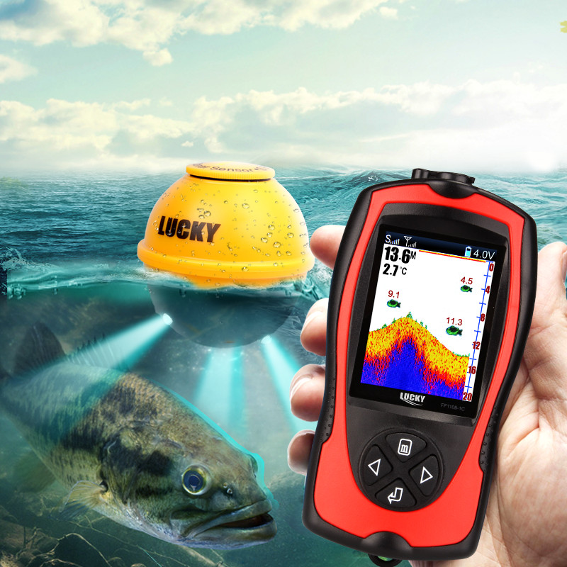 Wireless echo sonar sensor Sounder Portable fish finder Color 2.4 LCD findfish for the sea underwater monitor depth fishingWireless echo sonar sensor Sounder Portable fish finder Color 2.4 LCD findfish for the sea underwater monitor depth fishing