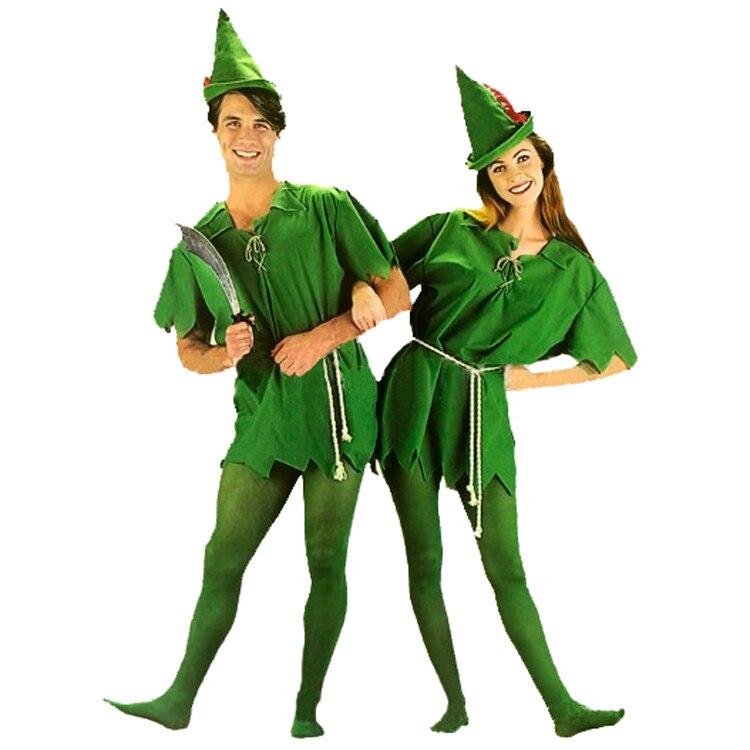 Hot cos Halloween green elf costume Peter Pan costume