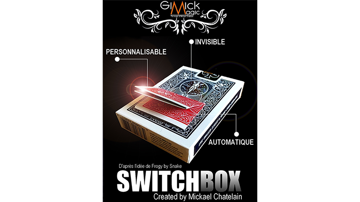 SWITCHBOX (Gimmick and Online Instructions) by Mickael Chatelain / close-up street card magic tricks wholesale цены онлайн