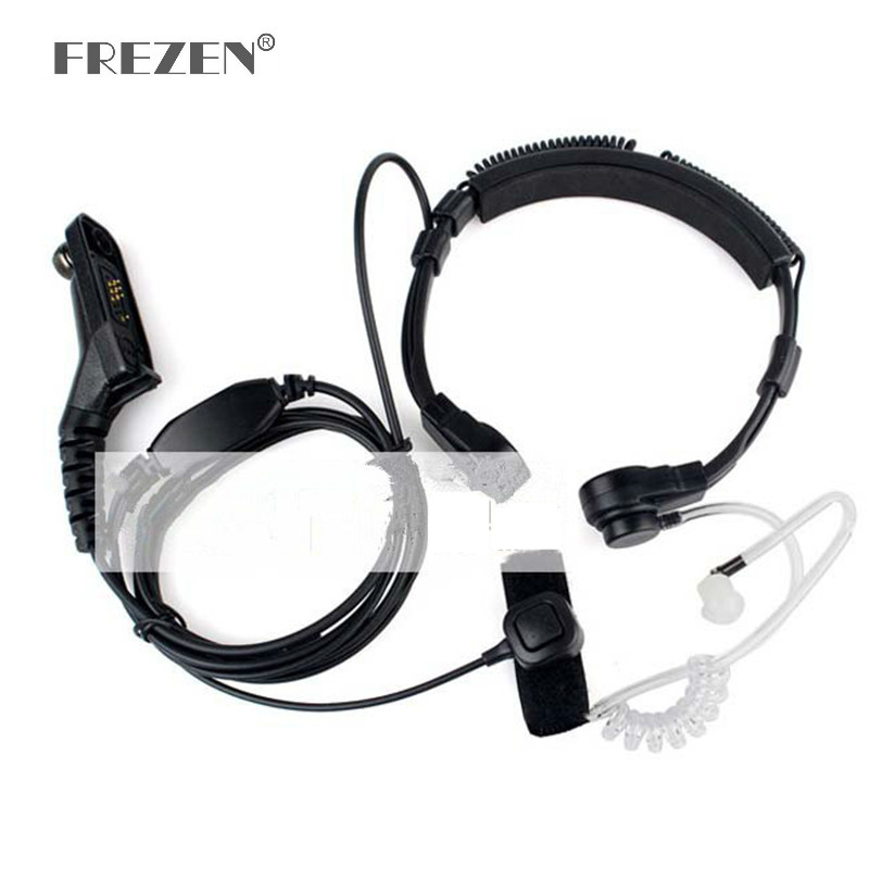 Flexible Throat Mic Microphone Covert Acoustic Tube Earpiece Headphone For Motorola XIRP8260/P8268/P8200/XPR6550 Two Way Radio
