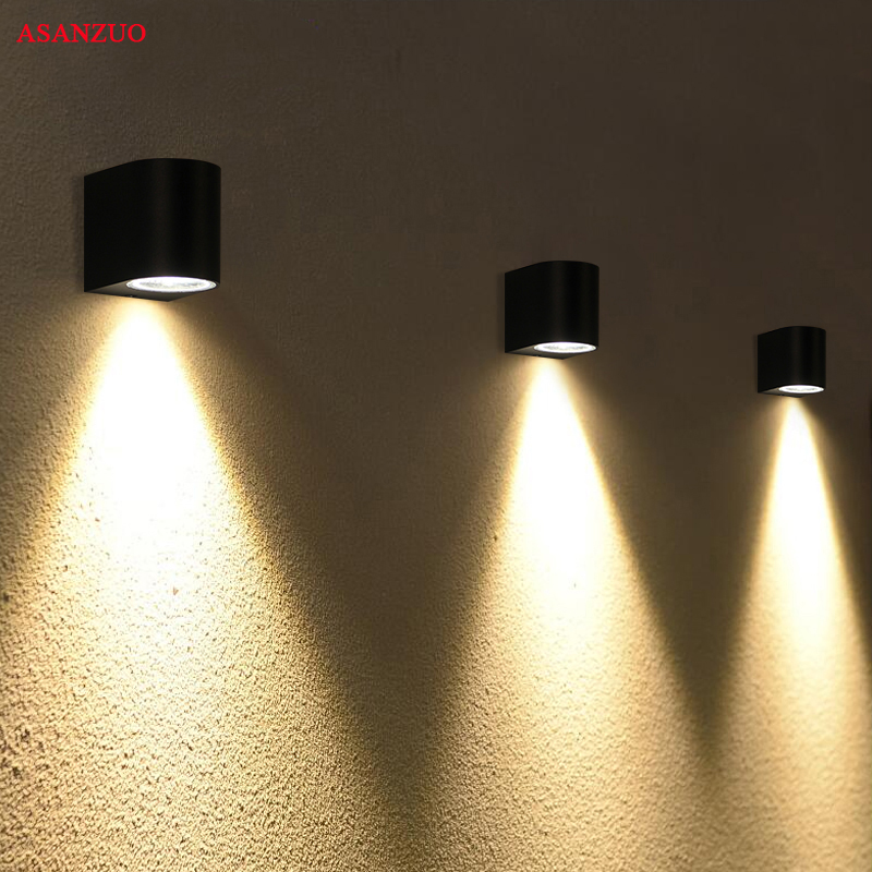 Villa sconce black color Outdoor waterproof LED wall lamp ...