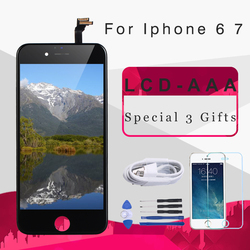 Mobymax AAA Quality LCD Screen For iPhone 6 7 Display Assembly Replacement with Original Digitizer  for iphone 7 7 plus 8 lcd