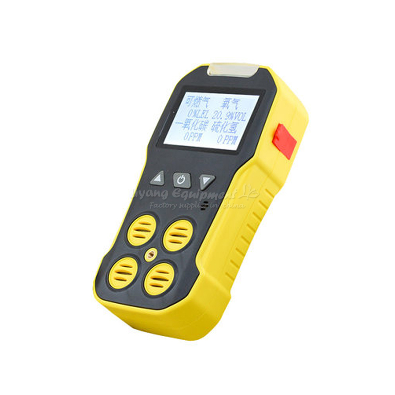 Four in one portable gas detector for detecting toxic, harmful and combustible gas toxic bachelors