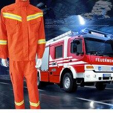 Анти-высокая температура пожарно-спасательный костюм анти-износ огнестойкая изоляция спасательный аварийный спасательный костюм