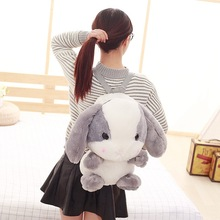 Wholesale Cute Cartoon Rabbit Shoulder Bag Furry Plush Bags Girls Birthday Gifts Children School Gift