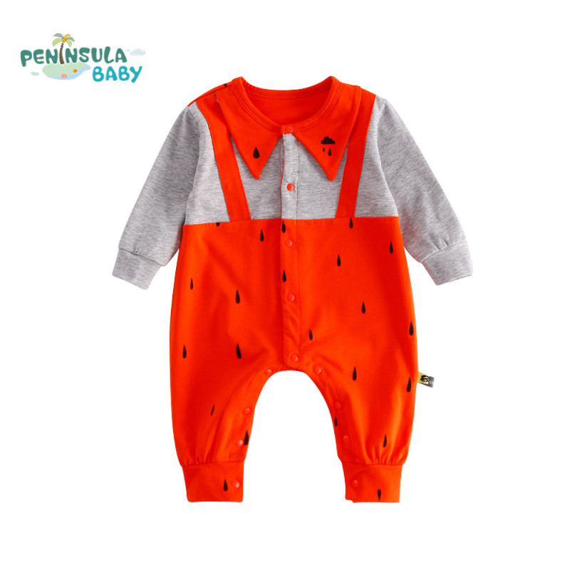 Peninsula Baby Autumn Baby Rompers Newborn Infant Clothes Cotton Long Sleeve Jumpsuit One Pieces Toddler Costume Children Outfit 2016 autumn newborn baby rompers fashion cotton infant jumpsuit long sleeve girl boys rompers costumes baby clothes