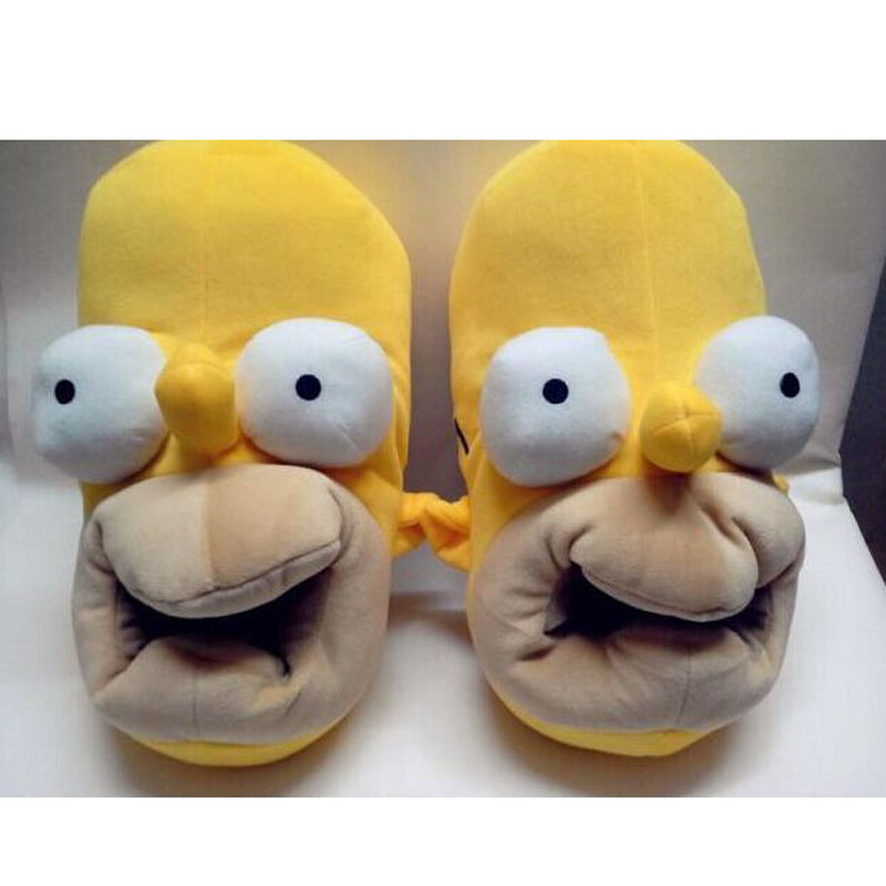 IVI New Brand Winter The Simpson Slippers Indoor Cute Cartoon Slippers for Women Home Shoes for