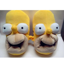 IVI New Brand Winter The Simpson Slippers Indoor Cute Cartoon Slippers for Women Home Shoes for Men Gift Fuzzy Slippers