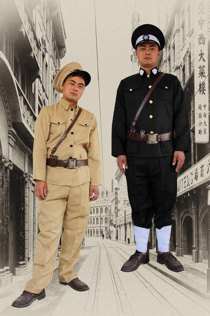Uniforme militar traidores Da República Popular Da China roupas homens oficiais Chineses antigos soldados Do Kuomintang de patrulha da polícia uniforme
