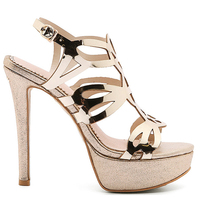 Cocoafoal Women Gold Open Toe Heels Sandals Plus Size 33 43 Platform Shoes Sexy Silver Peep Toe Glitter Rhinestone Sandals