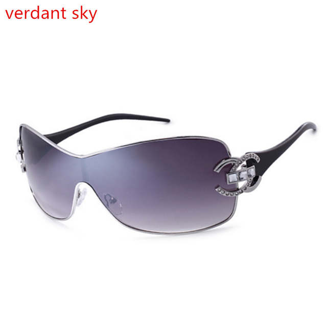 a2614b9570c placeholder 2018 100% Uv400 Luxury Diamond Logo Silver Sunglasses Women  Brand Design Gold Frame Sunglasses Fashion