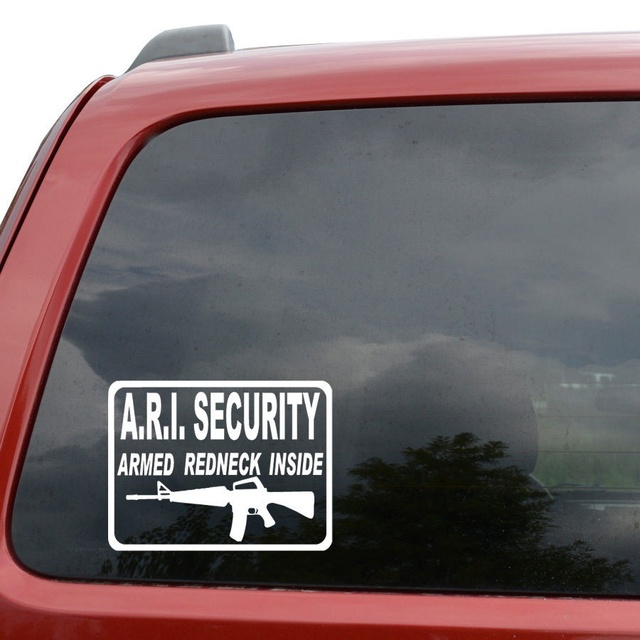 Car styling for armed redneck inside ari gun car window decor vinyl decal sticker 6