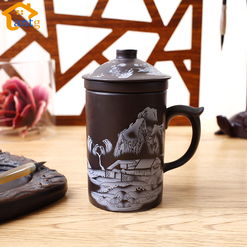 Juego de té 300IX Yixing chino, taza de té de arcilla púrpura, - Cocina, comedor y bar - foto 4