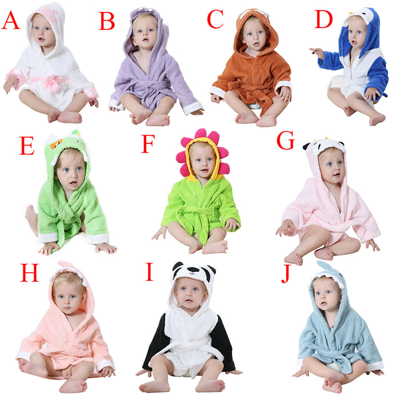 Child Cartoon Bathrobes Bathing Towel Bathrobes High Quality Cartoon Baby Towel Character Kids Bath Robe Infant Towel ...