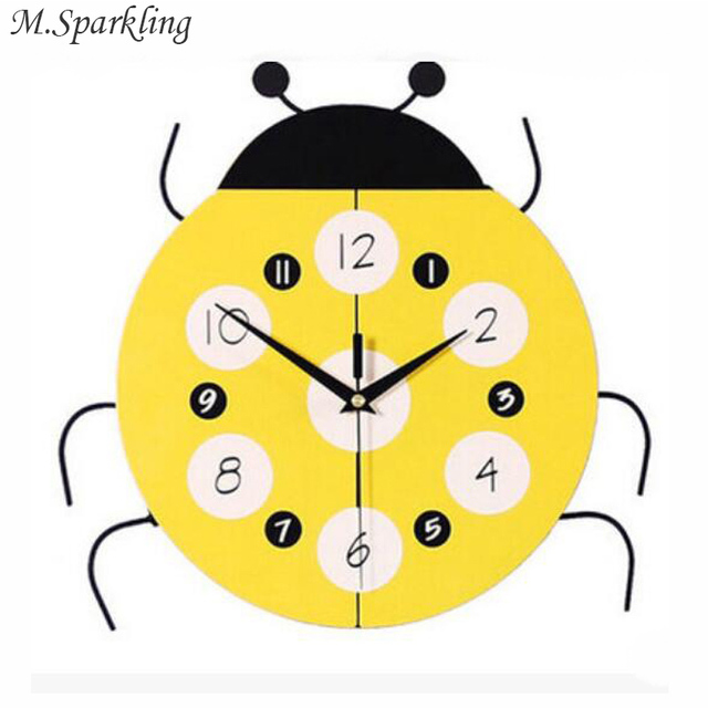 M.Sparkling Cute Ladybug Wall Clocks Child Room Wall Decorations ...