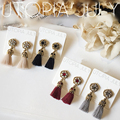 NEW Rhinestone Long Tassel Dangle Earrings for Women Thread Fringe Drop Earrings 2A4021