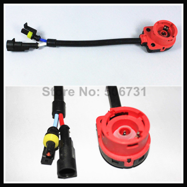 Car light accessories AMP D2S D2C D2R HID Xenon cable adaptor socket for D2 D4 D4S D4R xenon HID headlight relay wiring harness patti traveller 46