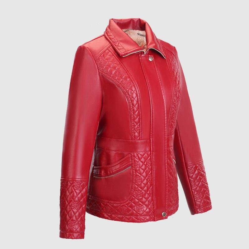 Haus & Garten Ernst 2018 Neue Mode Winter Herbst Frauen Faux Leder Jacke Outwear Schwarz Niet Pu Leder Jacke Motorrad Biker Mantel