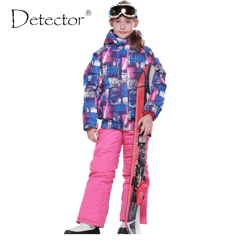 Detector Girls Ski Sets Windproof Waterproof Sports Kids Ski Sets Girls Ski Jackets Winter Outdoor Girls