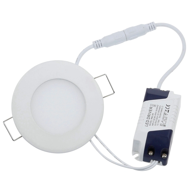 40pcs/pack Ultra Thin 3W 270-300LM Round Led Panel Light LED Ceiling Lamp Recessed Downlight Warm White /White ...
