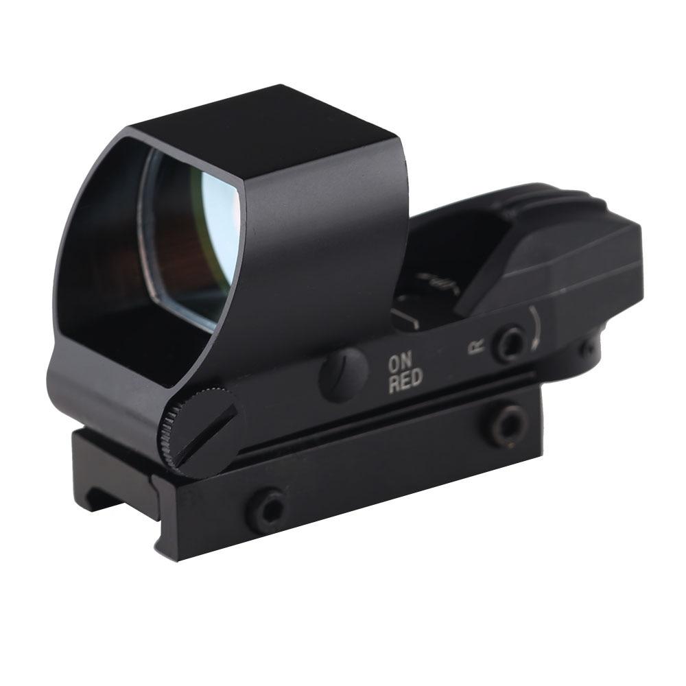 BIJIA Red dot 20mm Rail Riflescope Hunting Optics Scope Tactical HolographicMro Sight Reflex 4 Reticle Tactical