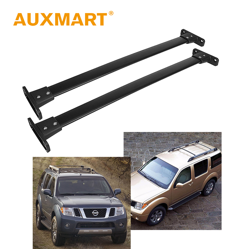 Auxmart Roof Rack Cross Bar for Nissan Pathfinder 2005-2012 Car Roof Rails Rack Boxes Bar Load Cargo Luggage Carrier 132LBS/60kg teaegg top roof rack side rails luggage carrier for hyundai tucson ix35 2010 2014