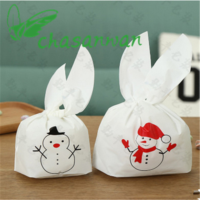 Wholesale 10Pc Christmas Snowman Candy Bag Festival Party Supplies DIY Birthday Wedding Favors and Gifts Decorative Crafts.Q