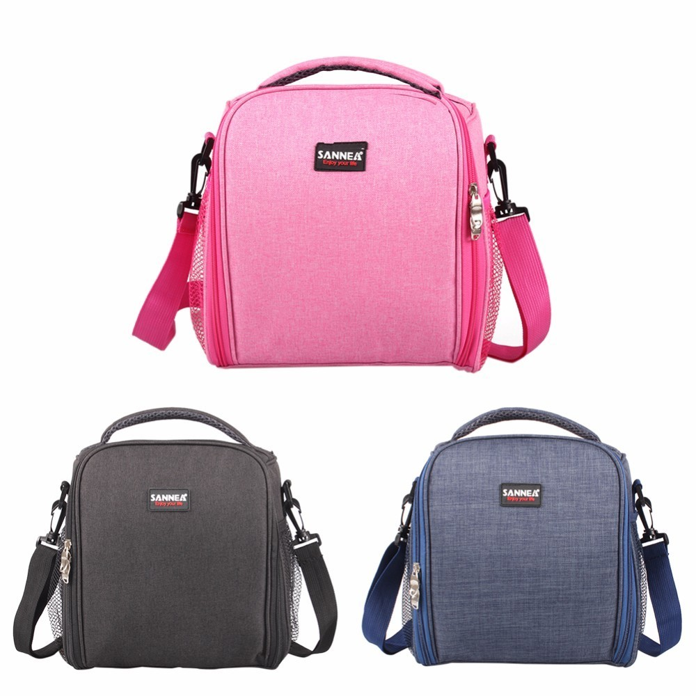 Fashion Portable Insulated Canvas lunch Bag Thermal Food Picnic Lunch Bags for Women kids Men Adult Cooler Lunch Box Bag Tote