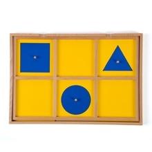 Nieuw Houten Babyspeelgoed Montessori Six Kastje Hout Geometrisch Demonstratie Dienblad Vroegschoolse educatie Kleuterklas