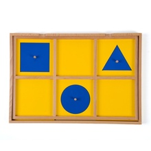 Baru Bayi Kayu Mainan Montessori Enam Kasus Kabinet Kayu Geometris Demonstrasi Tray Pendidikan Anak Usia Dini Preschool