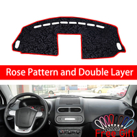Rose Pattern For MG MG3 3SW 2011 2012 2013 2016 Dashboard Cover Car Stickers Car Decoration Car Accessories Interior Car Decals