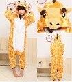 Envío gratis jirafa nuevos hombres de Anime pijamas Panda pijamas sudaderas con capucha de dibujos animados adultos Onesies animales ropa de dormir s / m / l / xl