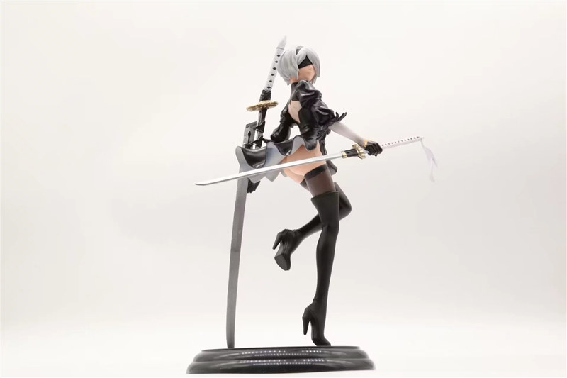 25CM Anime Action Figure NieR Automata YoRHa No. 2 Type B <font><b>2B</b></font> <font><b>Sexy</b></font> Girl Figure PVC Models Collection Figure Toys Gift image