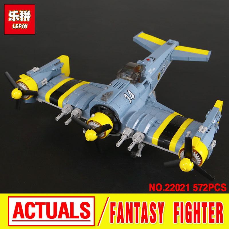 New Lepin 22021 Technical Series The Beautiful Science Fiction Fighting Aircraft Set Building Blocks Bricks Toys Model boy Gift ynynoo lepin 02043 stucke city series airport terminal modell bausteine set ziegel spielzeug fur kinder geschenk junge spielzeug