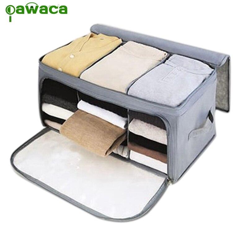 Bolsas de almacenamiento para el hogar Bolsas de almacenamiento de ropa Armarios Edredones no tejidos Almohadas Cajas de almacenamiento Tela Equipaje Divisor de armario para el hogar