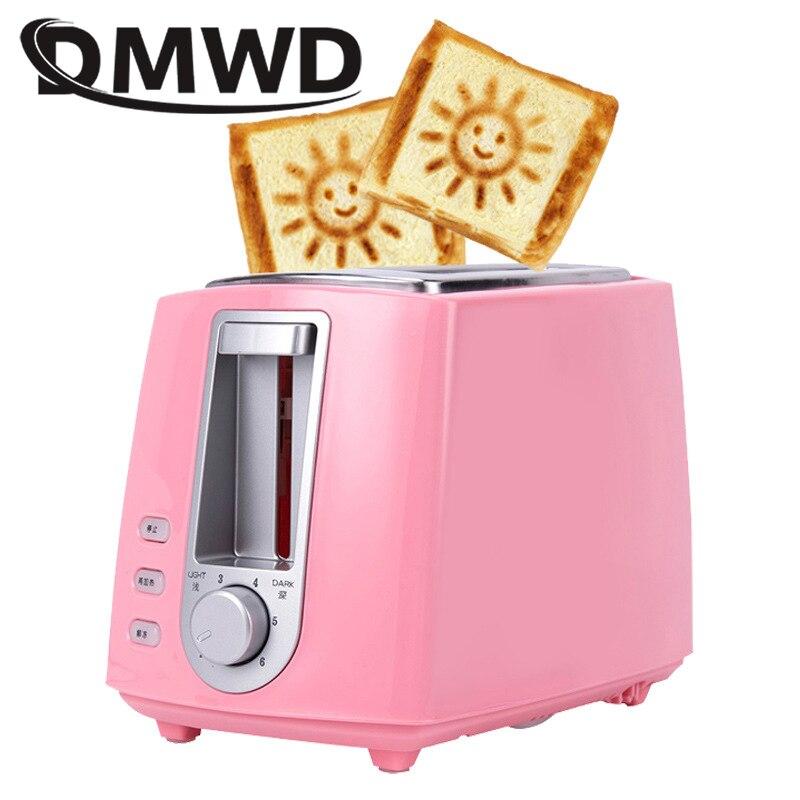 DWMD acier inoxydable grille-pain électrique ménage automatique Machine à pain Machine à petit déjeuner pain grillé Sandwich Grill four 2 tranches