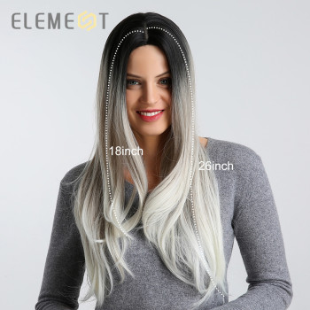 Element Long Synthetic Wig for Women Middle Side Parting High Density Natural Headline Heat Resistant Hair Wigs 4 Colors цена 2017