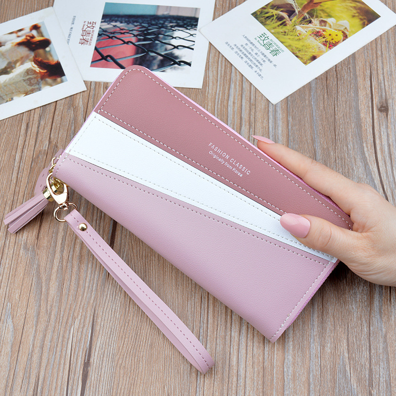 New Fashion Ladies Wallet Women Long Wallets Zipper Purse Patchwork Panelled Wallets Big Capacity Clutch Money Bag Card Holder.